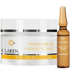 Clarena Power Pure Vit C Power Cream + 100% Vit C