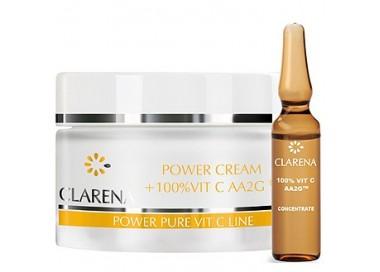 Clarena Power Pure Vit C Power Cream + 100% Vit C