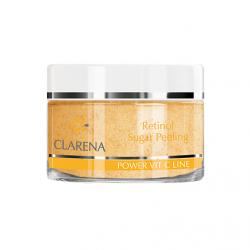 Clarena Power Pure Vit C Line retinolowy peeling cukrowy o podwójnym działaniu